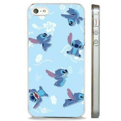 Lilo Stitch Disney Aloha Pattern CLEAR PHONE CASE COVER Fits IPHONE 5 6 7 8 X • 5.95£
