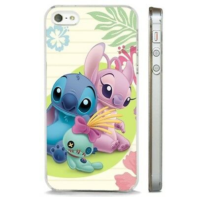 Lilo Stitch Girlfriend Disney CLEAR PHONE CASE COVER Fits IPHONE 5 6 7 8 X • 5.95£