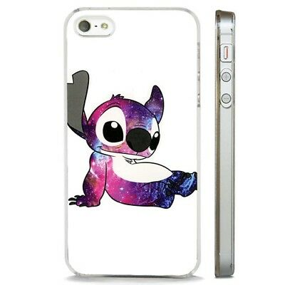 Lilo And Stitch Cool Galaxy Disney CLEAR PHONE CASE COVER Fits IPHONE 5 6 7 8 X • 2.95£