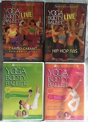 £9.67 • Buy 4 Yoga Booty Ballet Workout Exercise Fitness DVD Lot Hip Hop Abs Burlesque Abs