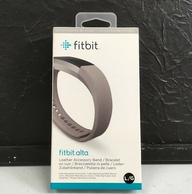 AU17.58 • Buy ✅ Genuine Fitbit Alta Leather Accessory Band Large/Graphite FB158LBGPL ✅NEW ✅WTY