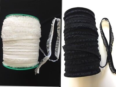 Decorative Elastic Lace Trim Organza Frill Ruffle For Sewing Lingerie Edge 15mm  • 2.49£