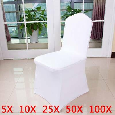 £149.99 • Buy Spandex Dining Room Chair Slip SEAT Covers Stretch Removable Wedding Snow White