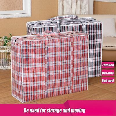 Extra Large Jumbo Laundry Shopping Bag Zipped Toy Storage Strong Reusable Bags • 2.19£