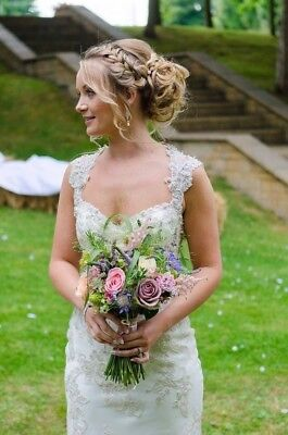 £400 • Buy Maggie Sottero Ivory Colour Wedding Dress. Will Fit Uk Size 8-10