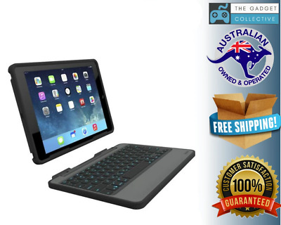 AU252.95 • Buy ZAGG Rugged Book Durable Case Hinged Detachable Backlit Keyboard IPad Air 2
