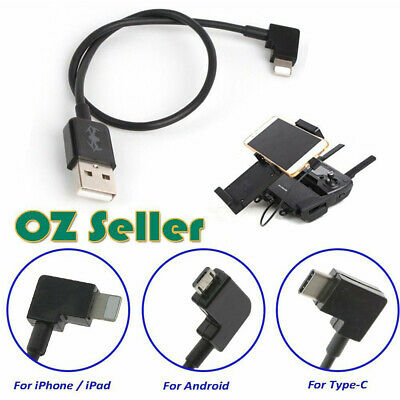 AU6.99 • Buy 90d Micro USB Cable Type C OTG 30cm For DJI Spark Mavic Pro IPad IPhone Android