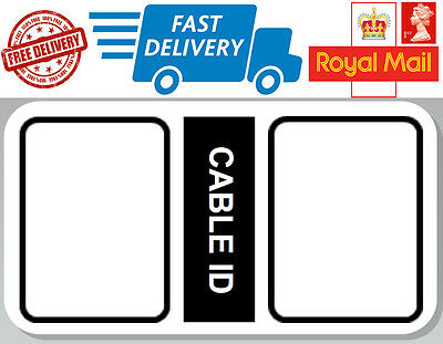 52 X Cable ID Labels Self Adhesive Identification Stickers Tags Plugs • 2.99£