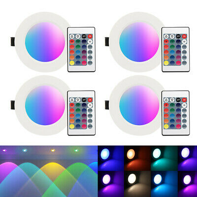 £25.45 • Buy 5W 10W LED RGB Ceiling Light Downlight Lamp Colour Changing Recessed Light Lamp