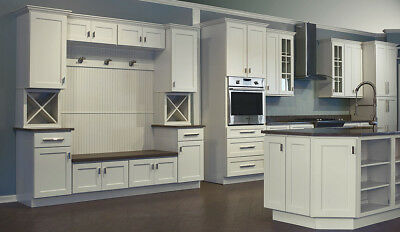 $2099 • Buy Dover White Shaker Collection JSI 10x10 Kitchen Cabinets, Kitchen Furniture
