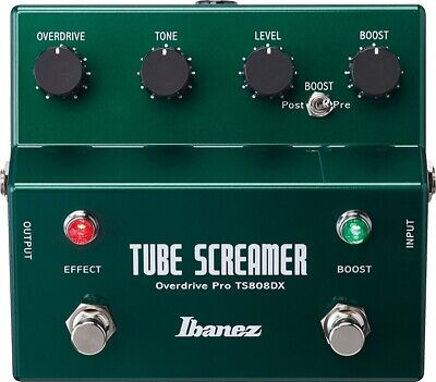 IBANEZ TS808DX Tube Screamer Guitar Effect Pedal Overdrive Booster • 241.47$