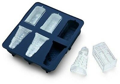 Doctor Who Silicone Ice Cube Tray Chocolate Jello Mold Tardis & Dalek • 8.22£