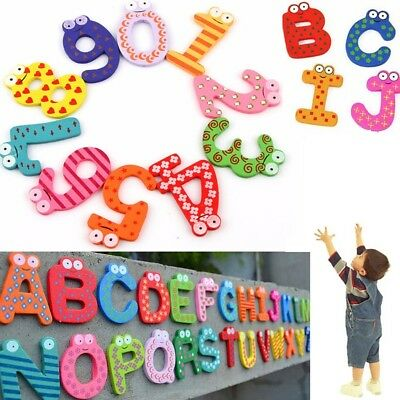 26 Letters 10 Numbers Kids Alphabet Fridge Magnet Child Educational Toy  • 3.99£