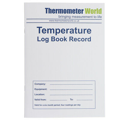 £3.35 • Buy Temperature Log Book 6 Month Record Hygiene Fridge Freezer Chilled Food In-111