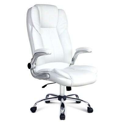 AU223.08 • Buy PU Leather Executive Office Desk Chair - White