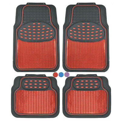 $39.50 • Buy Metallic Car Floor Mats For All Weather Rubber Heavy Duty Protection For Auto