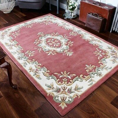 £149.99 • Buy Aubusson Design 100% Wool Rug  High Quality Super Thick Hand Tufted Rug 25%OF