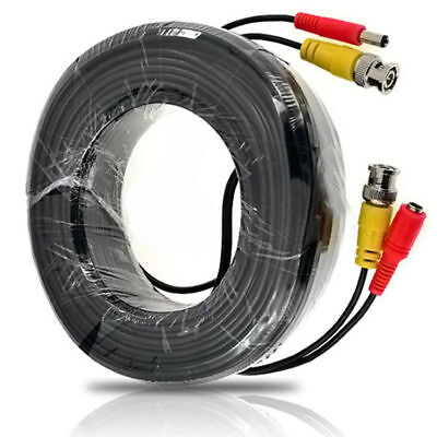 £9.99 • Buy 20m BNC DC CCTV Security Video Camera DVR Data Power RG59 Extension Cable