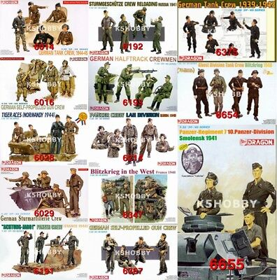 #25 Dragon 1/35 Wwii German Tank Crew • 14.50£