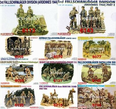 #24 DRAGON 1/35 WWII German Fallschirmjager Soldiers Series Figure Model Kit • 14.50£