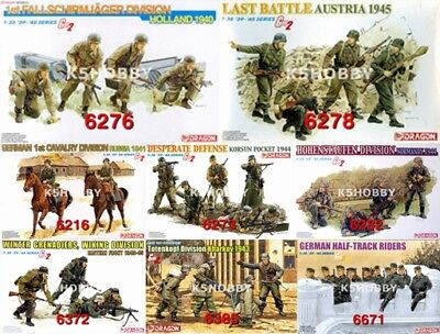 #31 DRAGON 1/35 WWII German Gen2 Soldiers Battle Figure Model Kit • 24.50£