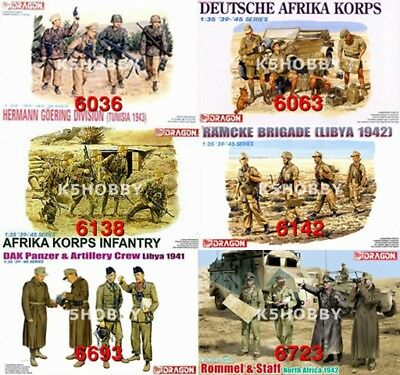 #21 Dragon 1/35 Wwii German Afrika Korps Soldier Battle Crew • 12£