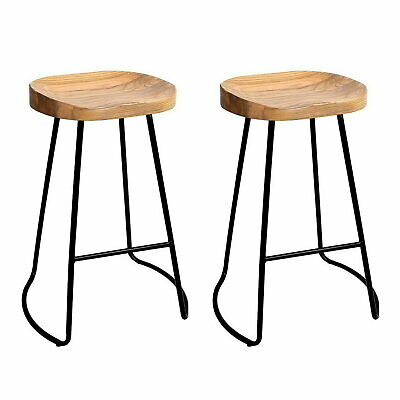 AU180.90 • Buy 2x Vintage Tractor Bar Stool Retro Barstool Industrial Dining Chair 65cm Natural