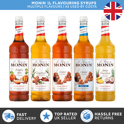 Monin Flavoured Coffee & Cocktail Syrups - 1L Various Flavours - Used By COSTA  • 10.85£