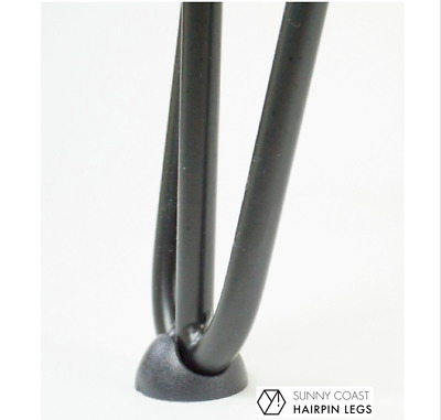 AU10.49 • Buy Hairpin Leg Floor Foot Protector Glide | Set Of 4 Black FREE POSTAGE From AUST
