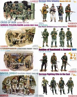 #13 DRAGON 1/35 WWII German Infantry Eastern Front Russian Battlefield Part-C • 12.50£