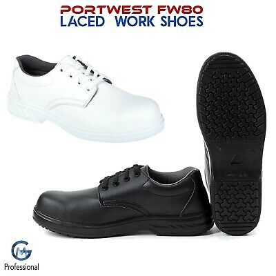 £30.65 • Buy Laced Food Safety Chef's Work Shoes Kitchen Catering Hospital Lab Portwest FW80