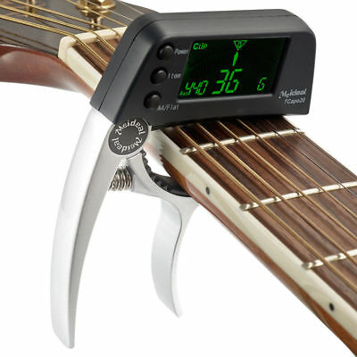 $ CDN26.65 • Buy Guitar Capo With Built-in Tuner Detects Sound Automatically Shows The Note New