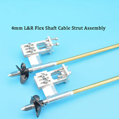 4mm Flex Shaft Cable Stainless Steel Drive Dog Prop Nut Prop Shaft RC Boat #1855 • 23.99£