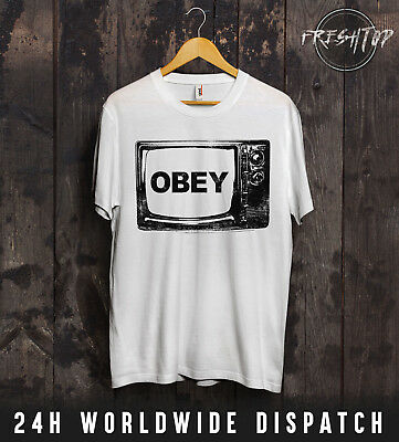 $ CDN15.54 • Buy Obey TV Television T Shirt NWO Shepard Fairey Illuminati Mind Control