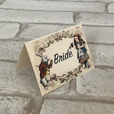 £3.50 • Buy Alice In Wonderland Wedding Table Place Name Cards Guest - Set Of 10