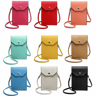 £4.19 • Buy Girls PU Leather Mobile Phone Bag Case Pouch Cross Body Purse Small Shoulder Bag