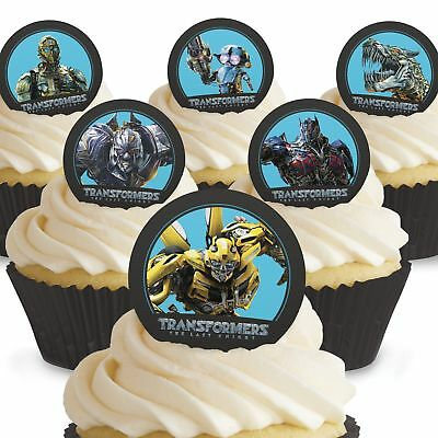 Cakeshop 12 X PRE-CUT Transformers Edible Cake Toppers • 2.50£