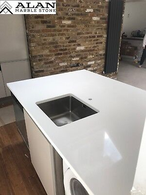 PURE WHITE  | Quartz Kitchen WORKTOP | Affordable Prices |sizes Available • 0.99£