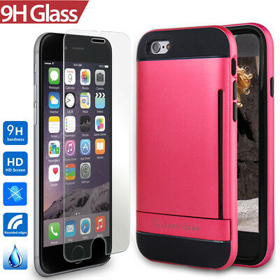 AU12.99 • Buy IPhone 6S Case For Girls Women, Impact Resistant Wallet Stand Cover With Glass
