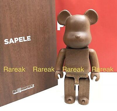 $2599.99 • Buy Medicom Be@rbrick 2018 Karimoku Sapele Wood 400% Wooden Bearbrick 1pc