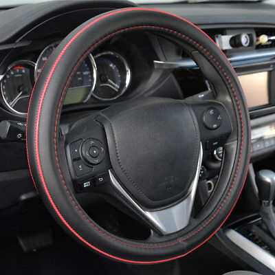 $16.79 • Buy Official ACDelco Synthetic Leather Steering Wheel Cover Red Stitching Accent