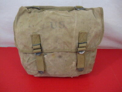 $49.99 • Buy WWII US Army/USMC M1936 Canvas Musette Bag Or Pack Khaki Color - Dated 1942 #1