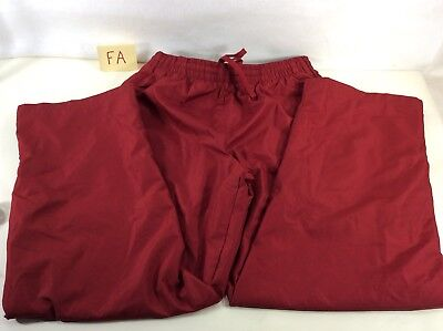 $9.99 • Buy TEK GEAR Mens Large Pants Red Zippered Ankles Warm Up Track Runner Workout