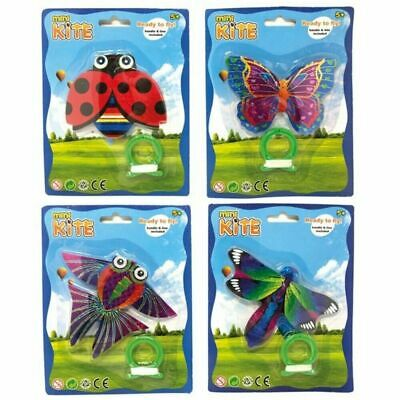 Mini Kite Butterfly Flying Fish Ladybird Toy Girls Boys Kids Outdoor Beach Fun • 2.99£