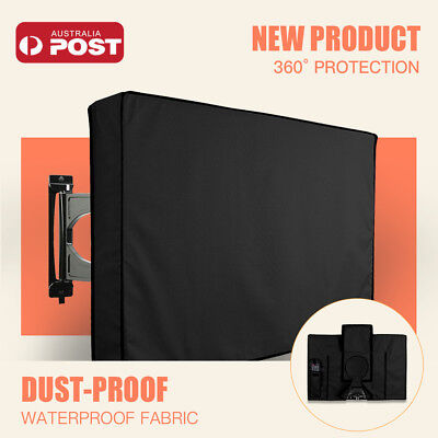 AU25.22 • Buy 30 -65  Inch Waterproof TV Cover Outdoor Patio Flat Television Protector Black