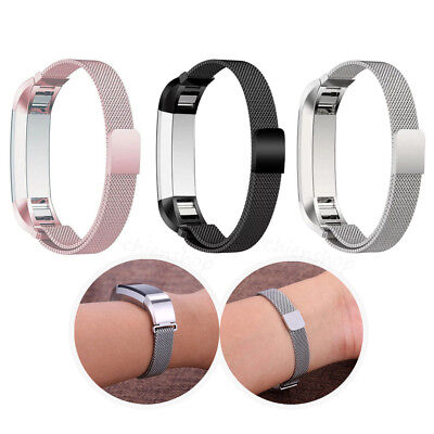 $ CDN9.94 • Buy Large Milanese Loop Magnetic Stainless Steel Band Strap For Fitbit Alta/Alta HR