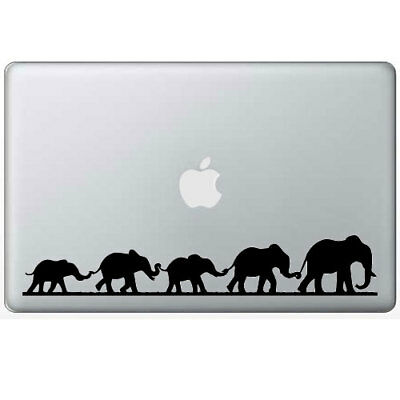 $10.75 • Buy Cute Elephant Family Decal Sticker For Macbook Air Pro Laptop Car Window Truck