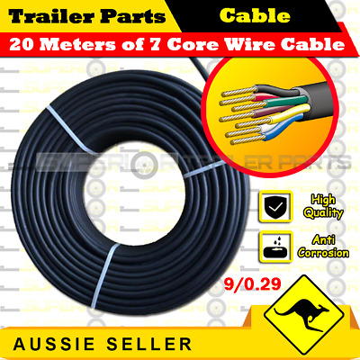 AU32.98 • Buy 20M X 7 Core Wire Cable Trailer Cable Automotive Boat Caravan Truck Coil V90 PVC
