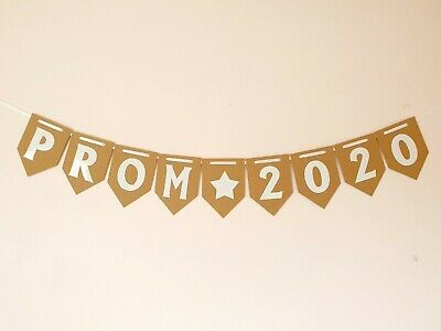 £5.99 • Buy PROM 2020 Banner / School Bunting /party Decorations Shabby Chic Eco Friendly Uk