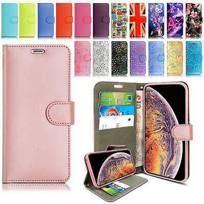 £2.99 • Buy Leather Design Card Wallet Flip Stand Case Cover For IPhone 12 11 Pro Max 6 7 8